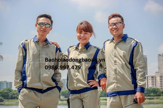 BẢO HỘ LAO ĐỘNG BẢO AN Quần áo công nhân 04 BA 04