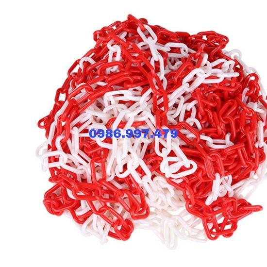 Dây xích nhựa màu trắng đỏ