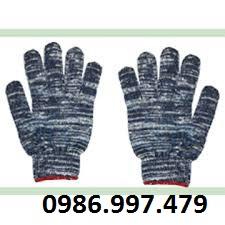 găng tay sợi màu ghi
