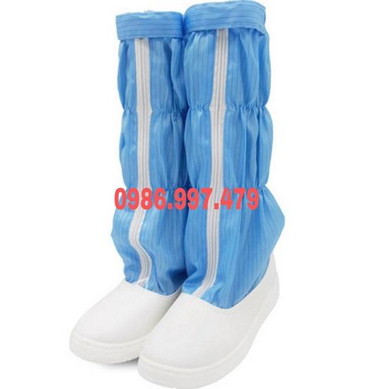 Boot phòng sạch chống tĩnh điện màu xanh